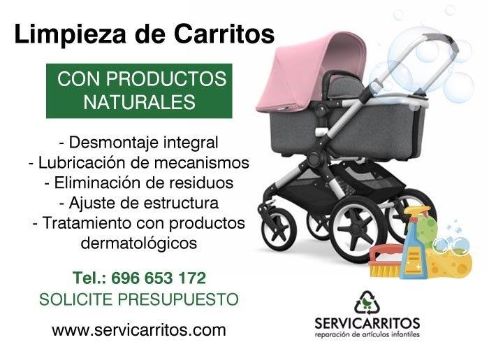 limpieza de carritos de bebé